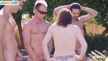 Скриншот для Групповуха крепких мужиков с нимфетками