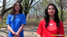 Скриншот для Две футболистки согласились на групповое порно