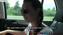 Скриншот для Подружки снимают лесбийскую групповуху в машине